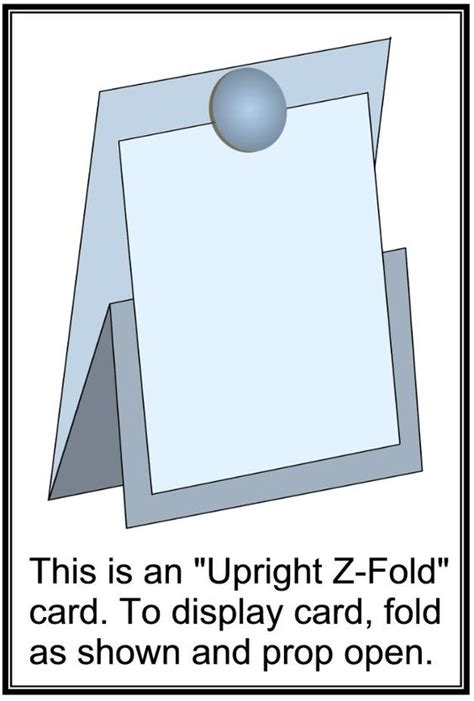 a4 half fold card template upright z fold scrap easels pictures and