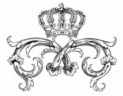 Crown Coloring Adult Royal Symbol Pages Kings
