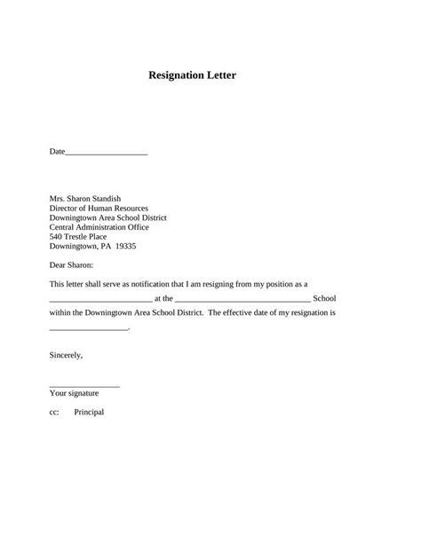 New Sample Letter Of Resignation Free | Resignation letter, Resignation letter sample, Lettering