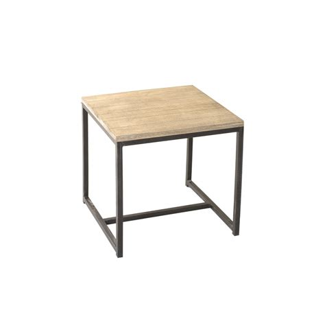 bouts de canape bout de canapé carré paulownia meubles macabane
