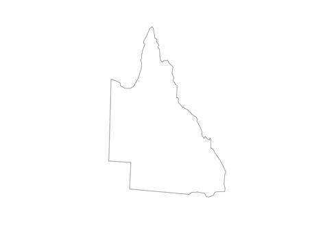 queensland australia map clipart clipground