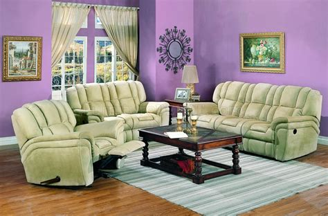 beige microfiber contemporary living room wreclining seats