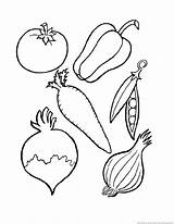 Vegetables Vegetable Coloring Pages Colouring Fruits Sheet Printables 123coloringpages sketch template