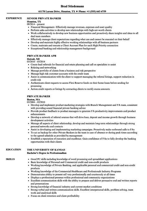 Banker Resume by Banker Resume Sles Velvet
