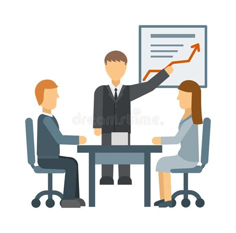 12667 business lunch meeting clipart business meeting vector illustration stock vector