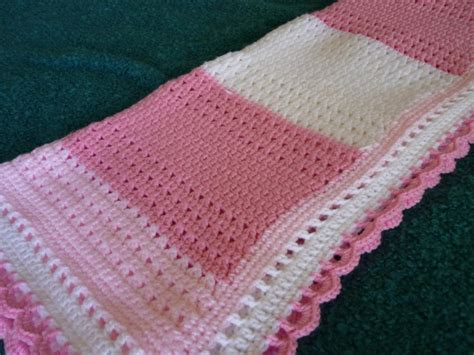 crochet baby blanket you have to see pink and white crochet lace baby blanket by hanjan crochet