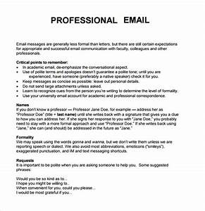 8 sample professional emails sample templates With how to write a business email template