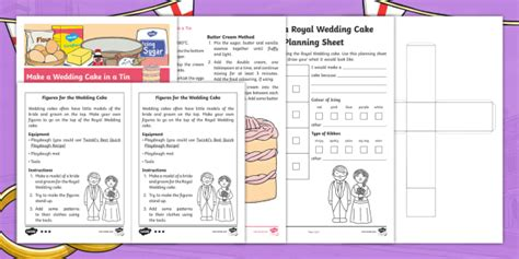 * New * Ks1 Design A Souvenir Wedding Cake Activity Pack  Royal Wedding
