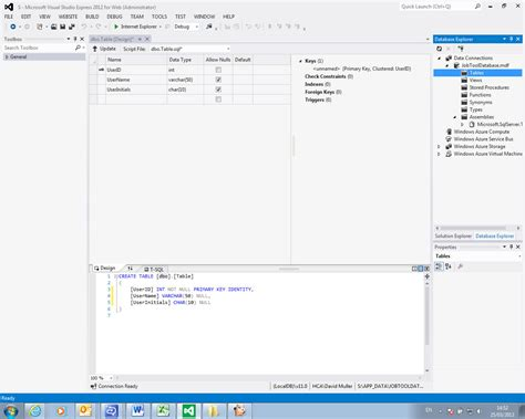 create new table sql asp net cannot create new sql data tables in visual