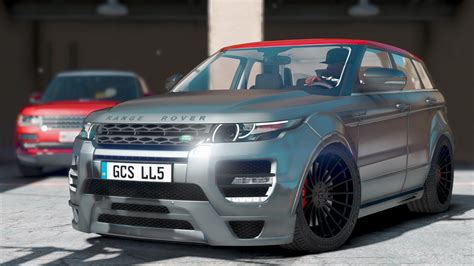 Land Rover Range Rover Evoque Modification by Hamann Land Rover Range Rover Evoque Add On Gta5 Mods