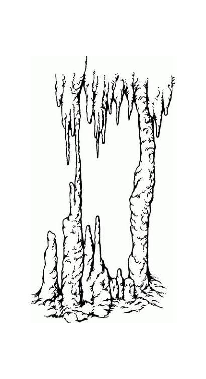 Stalactite Clipart Stalactites Stalagmite Stalagmites Cave Drawing