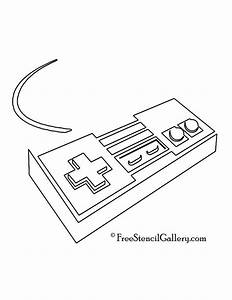 Nintendo nes controller stencil 573nc115 pinterest for Snes wiring