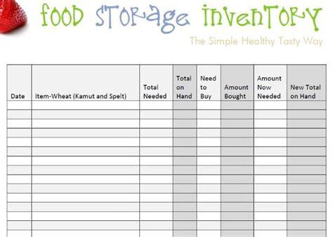 pantry inventory templates   xlsx docs