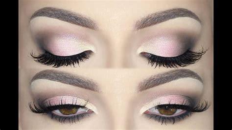 soft pink glam holiday smokey eyes   tutorial melissa samways youtube
