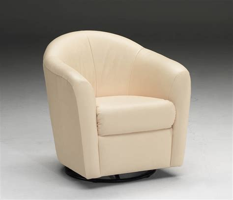 i201 leather swivel barrel chair