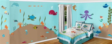 Under The Sea Theme Wall Mural Stencil Kit-stephanie