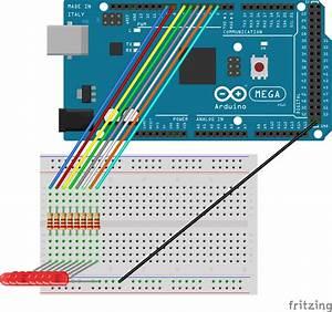 Tutorial Dasar Arduino Led Mengalir Atau Berjalan