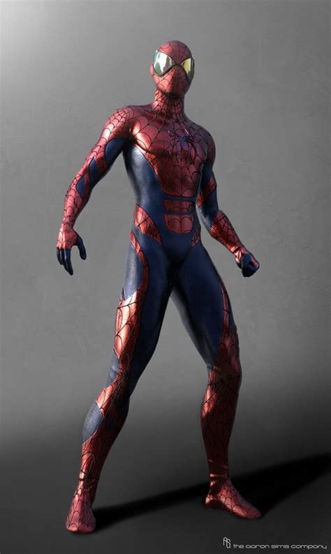unused spider man  rhino designs  tasm  art