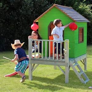 cabane maisonnette enfant sur pilotis toboggan en bois With superb decoration d un petit jardin 0 cabane de jardin pour enfant jeux en plein air