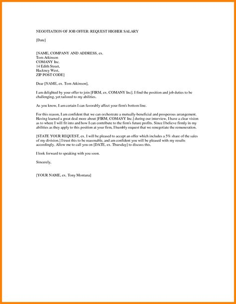 Offer Letter Template Employment Counter Offer Letter Template Exles Letter