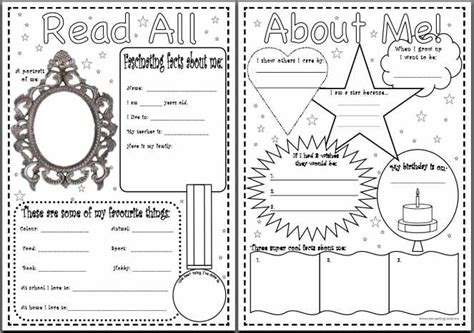 read all about me worksheet worksheets for all