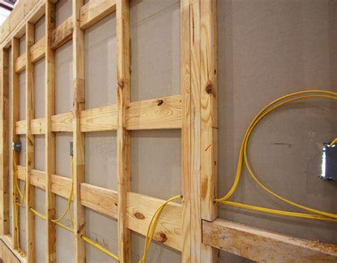wood blocking metal studs basement wall studs