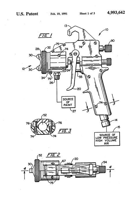 Patent US4993642 - Paint spray gun - Google Patents