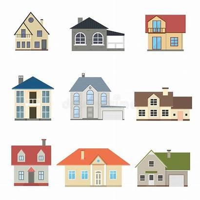 Cartoon Houses Exterior Casas Case Types Het