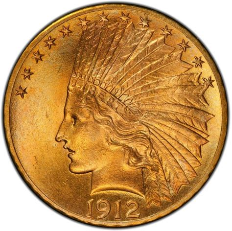 indian value 1912 indian head gold 10 eagle values and prices past sales coinvalues com