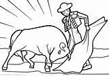 Spain Coloring Matador Template Pl Culture sketch template