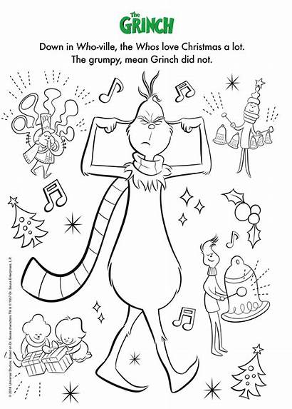 Grinch Illumination Coloring Pages Printable Max Christmas