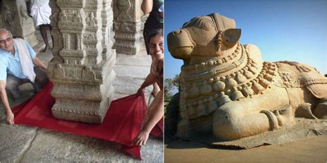 hanging earrings the hanging pillar and india 39 s largest nandi statue at