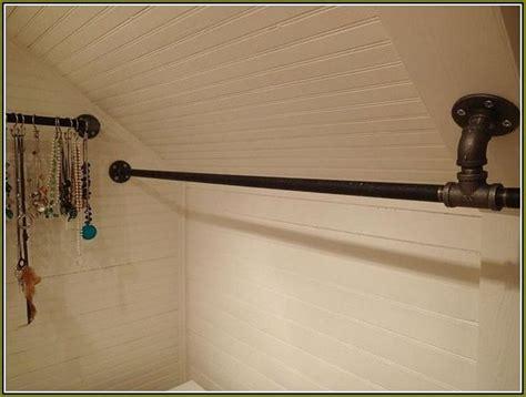 Metal Closet Brackets Rod To Create Elegant Look — The