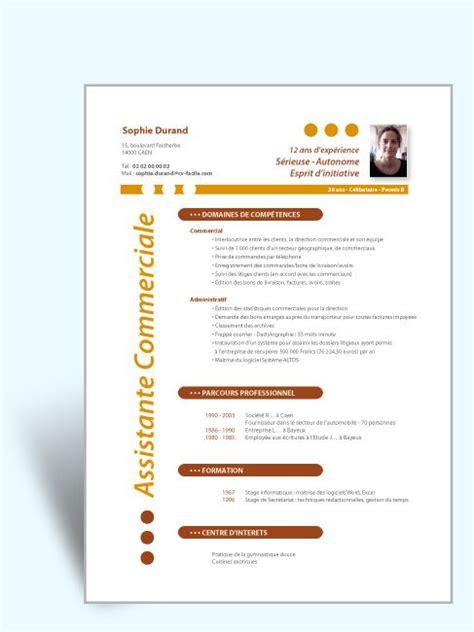 exemple cv   commercial  imprimer modele cv exemple