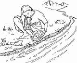 Rush Gold Panning Coloring Pages Mining Clipart Australian Stockade Line Google Drawing Clip Eureka Spot sketch template