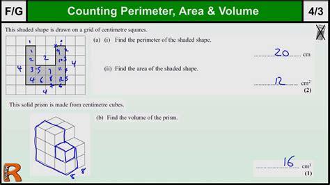 Perimeter, Area, Volume Gcse Maths Foundation Revision Exam Paper Practice & Help Youtube