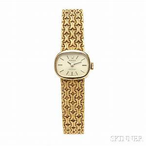 Price Guide For Lady U0026 39 S 18kt Gold Wristwatch  Rolex  The Oval