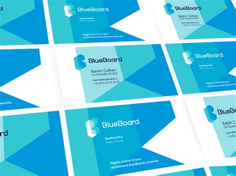 blueboard logo design business cards  images