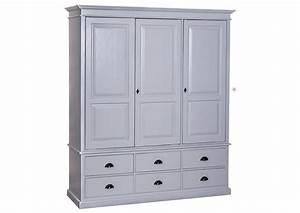 Armoire En Pin Massif : acheter votre armoire en pin massif avec 3 portes ~ Teatrodelosmanantiales.com Idées de Décoration