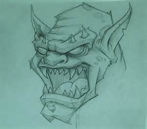 Scary Monster Sketches Drawings