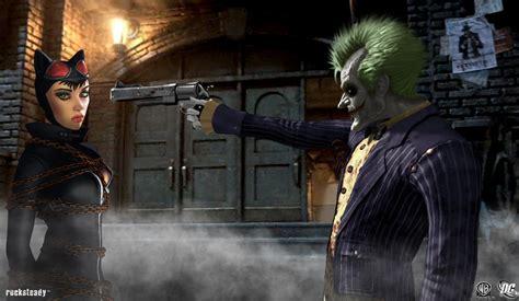 Batman Arkham City Images Catwoman Vs Joker Hd Wallpaper