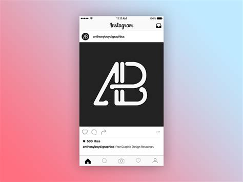 Free for personal and commercial use. 2016 Instagram Post Page Mockup by Anthony Boyd Graphics ...