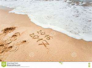 Happy New Year 2017 On The Beach Stock Image - Image: 78642791