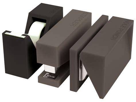set bureau accessoire de bureau buro set 3 pièces gris lexon