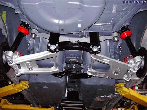 car rear suspension z cars rear suspension being assembled engine and