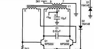 Schematic Diagram  Simple Cold Cathode Fluorescent Lamp