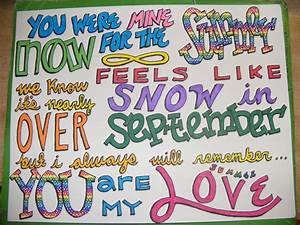 Summer Love - One Direction | 1D Lyric Drawings ...