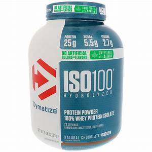 Dymatize Nutrition  Iso100 Hydrolyzed  100  Whey Protein Isolate  Natural Chocolate  5 Lbs  2 3