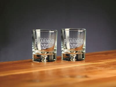 Custom Etched Crystal Deluxe Barware Rocks Glass