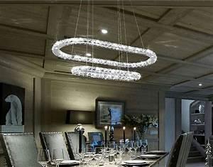 Lustre Cristal Moderne : restaurant moderne gradateur ovale lustre en cristal luminaire piste anneau lustre suspendu ~ Teatrodelosmanantiales.com Idées de Décoration